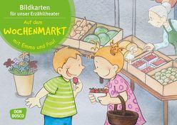 Auf dem Wochenmarkt mit Emma und Paul. Kamishibai Bildkartenset. von Bohnstedt,  Antje, Lehner,  Monika