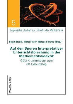 Auf den Spuren Interpretativer Unterrichtsforschung in der Mathematikdidaktik von Brandt,  Birgit, Fetzer,  Marei, Schütte,  Marcus