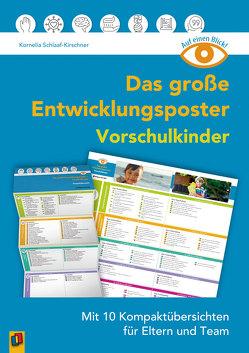 Auf einen Blick: Das große Entwicklungsposter – Vorschulkinder von Schlaaf-Kirschner,  Kornelia