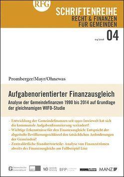 Aufgabenorientierter Finanzausgleich von Mayr,  Christian, Ohnewas,  Yvonne, Promberger,  Kurt