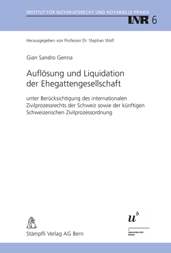 Auflösung und Liquidation der Ehegattengesellschaft von Genna,  Gian Sandro
