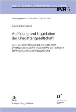 Auflösung und Liquidation der Ehegattengesellschaft von Genna,  Gian S