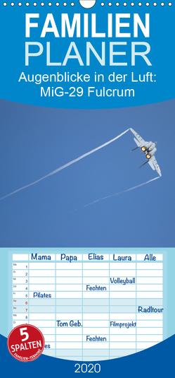 Augenblicke in der Luft: MiG-29 Fulcrum – Familienplaner hoch (Wandkalender 2020 , 21 cm x 45 cm, hoch) von Prokic,  Aleksandar