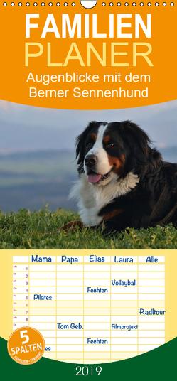 Augenblicke mit dem Berner Sennenhund – Familienplaner hoch (Wandkalender 2019 , 21 cm x 45 cm, hoch) von Hunscheidt,  Hubert