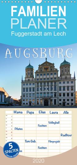 Augsburg – Fuggerstadt am Lech – Familienplaner hoch (Wandkalender 2020 , 21 cm x 45 cm, hoch) von Cross,  Martina