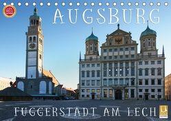 Augsburg – Fuggerstadt am Lech (Tischkalender 2018 DIN A5 quer) von Cross,  Martina