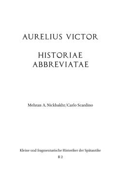 Aurelius Victor von Nickbakht,  Mehran A., Scardino,  Carlo