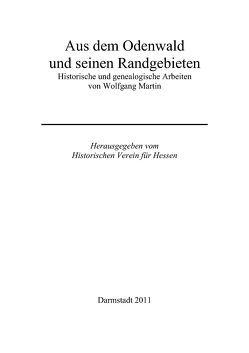 Aus dem Odenwald und seinen Randgebieten von Martin,  Wolfgang