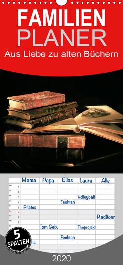 Aus Liebe zu alten Büchern – Familienplaner hoch (Wandkalender 2020 , 21 cm x 45 cm, hoch) von Feix,  Ola
