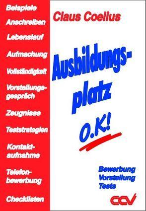 Ausbildungsplatz o.K. von Coelius,  Claus