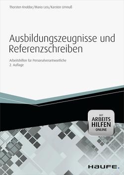 Ausbildungszeugnisse und Referenzschreiben -mit Arbeitshilfen online von Knobbe,  Thorsten, Leis,  Mario, Umnuß,  Karsten