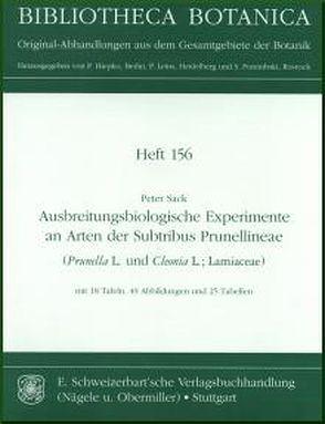 Ausbreitungsbiologische Experimente an Arten der Subtribus Prunellineae (Prunella L. und Cleonia L.; Lamiaceae) von Sack,  Peter