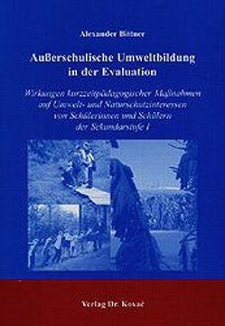 Außerschulische Umweltbildung in der Evaluation von Bittner,  Alexander