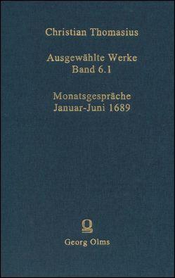 Ausgewählte Werke von Thomasius,  Christian