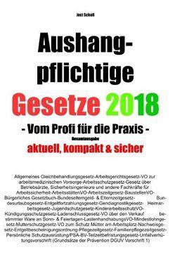Aushangpflichtige Gesetze 2018 Gesamtausgabe von Scholl,  Jost