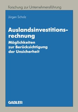 Auslandsinvestitionsrechnung von Scholz,  Jürgen