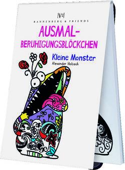 Ausmal – Beruhigungsblöckchen Kleine Monster von Holzach,  Alexander