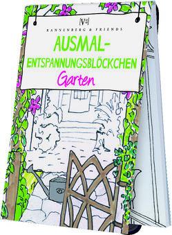 Ausmal – Entspannungsblöckchen Garten von Rannenberg & Friends