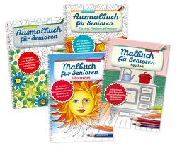 Ausmalbuch für Senioren Bd. 1-4 im SET von Twachtmann,  Monika