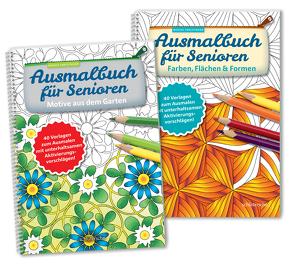 Ausmalbuch für Senioren Bd. 1 u. 2 im SET von Twachtmann,  Monika