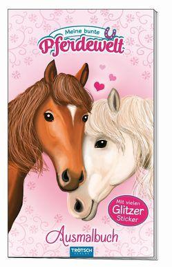"""Ausmalbuch mit Stickern """"Meine bunte Pferdewelt"""" von Angelmahr,  Anja"""