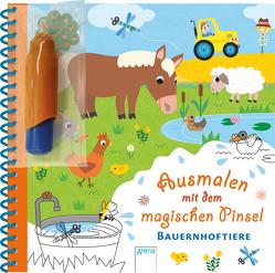 Ausmalen mit dem magischen Pinsel. Bauernhoftiere von Boehm,  Stefanie, Ledesma,  Sophie