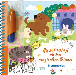 Ausmalen mit dem magischen Pinsel. Tierkinder von Boehm,  Stefanie, Ledesma,  Sophie