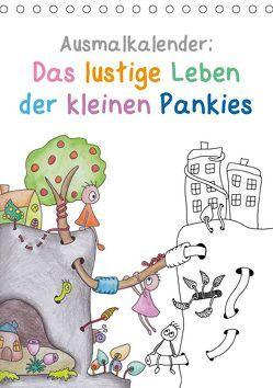 Ausmalkalender: Das lustige Leben der kleinen Pankies (Tischkalender 2019 DIN A5 hoch) von Langenkamp,  Heike