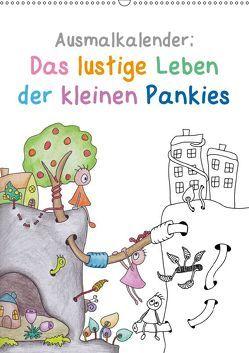 Ausmalkalender: Das lustige Leben der kleinen Pankies (Wandkalender 2019 DIN A2 hoch) von Langenkamp,  Heike