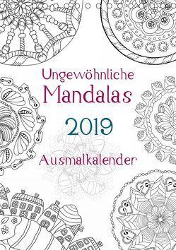 Ausmalkalender – Ungewöhnliche Mandalas (Tischkalender 2019 DIN A5 hoch) von Langenkamp,  Heike