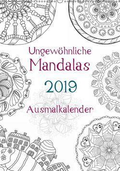Ausmalkalender – Ungewöhnliche Mandalas (Wandkalender 2019 DIN A2 hoch) von Langenkamp,  Heike