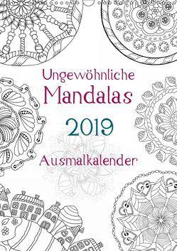 Ausmalkalender – Ungewöhnliche Mandalas (Wandkalender 2019 DIN A3 hoch) von Langenkamp,  Heike