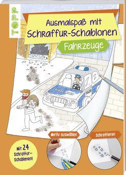 Ausmalspaß mit Schraffur-Schablonen Fahrzeuge von frechverlag