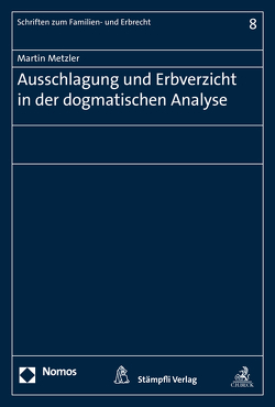 Ausschlagung und Erbverzicht in der dogmatischen Analyse von Metzler,  Martin