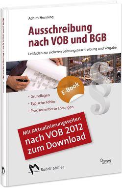 Ausschreibungnach VOB und BGB von Henning,  Achim