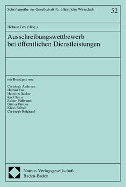 Ausschreibungswettbewerb bei öffentlichen Dienstleistungen von Cox,  Helmut