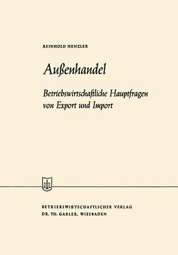 Außenhandel von Henzler,  Reinhold
