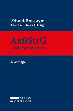 Außerstreitgesetz von Klicka,  Thomas, Rechberger,  Walter