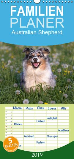 Australian Shepherd – Familienplaner hoch (Wandkalender 2019 , 21 cm x 45 cm, hoch) von Mirsberger www.tierpfoto.de,  Annett