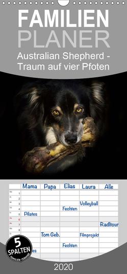 Australian Shepherd – Traum auf vier Pfoten – Familienplaner hoch (Wandkalender 2020 , 21 cm x 45 cm, hoch) von Mayer Tierfotografie,  Andrea