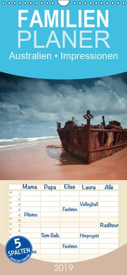 Australien • Impressionen – Familienplaner hoch (Wandkalender 2019 , 21 cm x 45 cm, hoch) von Stanzer,  Elisabeth