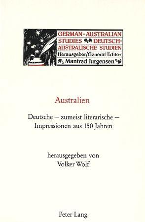 Australien von Wolf,  Volker