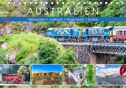 Australien – Metropolen • Outback • Regenwald • Koalas (Tischkalender 2021 DIN A5 quer) von Meyer,  Dieter