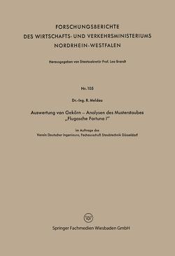 """Auswertung von Gekörn — Analysen des Musterstaubes """"Flugasche Fortuna I"""" von Meldau,  Robert"""