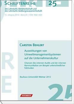 Auswirkungen von Umweltmanagementsystemen auf die Unternehmenskultur von Behlert,  Carsten