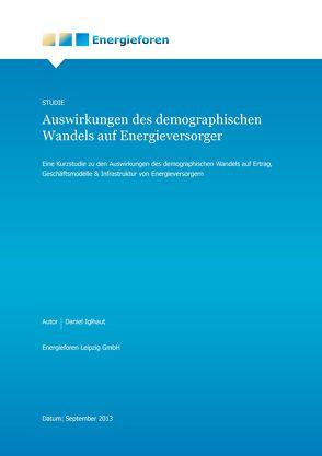 Auswirlungen des demografischen Wandels auf Energieversorger von Iglhaut,  Daniel