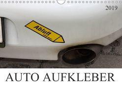 AUTO AUFKLEBER (Wandkalender 2019 DIN A4 quer) von SchnelleWelten,  k.A.