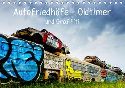 Autofriedhöfe – Oldtimer und Graffiti (Tischkalender 2019 DIN A5 quer) von Gerken,  Klaus