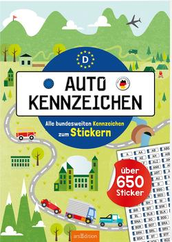 Autokennzeichen – Alle bundesweiten Kennzeichen zum Stickern von Maas,  Annette