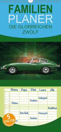 AUTOMOBIL: DIE GLORREICHEN ZWÖLF – Familienplaner hoch (Wandkalender 2019 , 21 cm x 45 cm, hoch) von Freiwah,  Tom, Oldtimer-Art.de